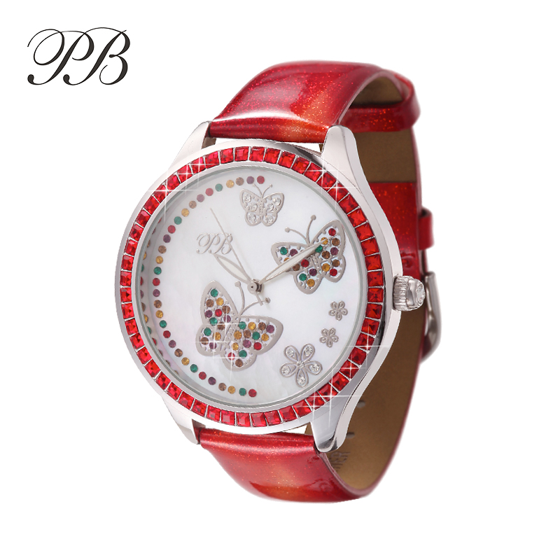 PB Fashion Watch Women Dress Quartz Watch Genuine Leather Band Wristwatch Water Resistant Ladies Watch Luxury Diamond HL534BT семен скляренко владимир книга 2 василевс