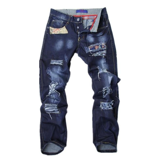 Free shopping Hole jeans denim trousers beggar pants fashion jeans  X-A2101