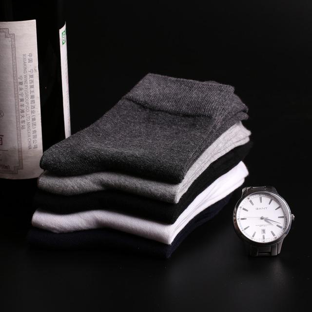 Bamboo Fiber Classic Business Men's Cotton 5Pairs/lot