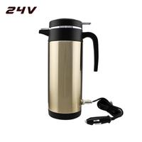 Car Cigarette Lighter Electric Heated Kettle Car Based Stainless Steel Bottle Boiling Water Car Heating Cup Hot Water Warmer