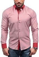 Brand 2018 Hot Sale Fashion Male Shirt Long Sleeves Tops Simple Stripes Mens Dress Shirts Slim