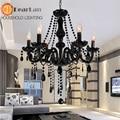 Vela europeu Lustres de Cristal Do Teto Lâmpada de Cristal Com 6 Luzes Para O Quarto Sala de estar Sala de Jantar E14 Lâmpada de Cristal K9