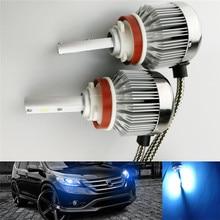 Na esperança de gelo azul H11 auto conduziu a lâmpada do farol do carro 30 W 8000 K Auto Farol nevoeiro lâmpadas fonte de luz cob