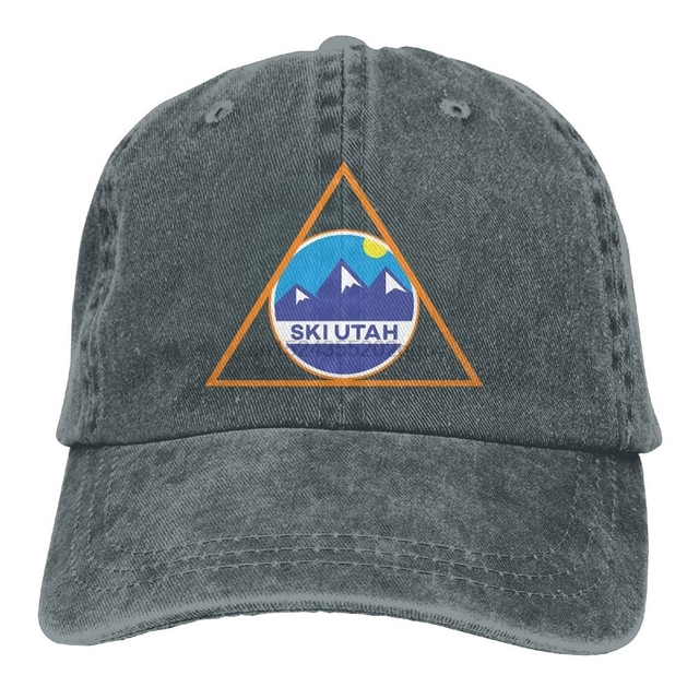 57124d695b0 Ski Utah Skiing in Triangle Skiing Lover Classic Unisex Baseball Cap  Adjustable Washed Dyed Cotton Ball