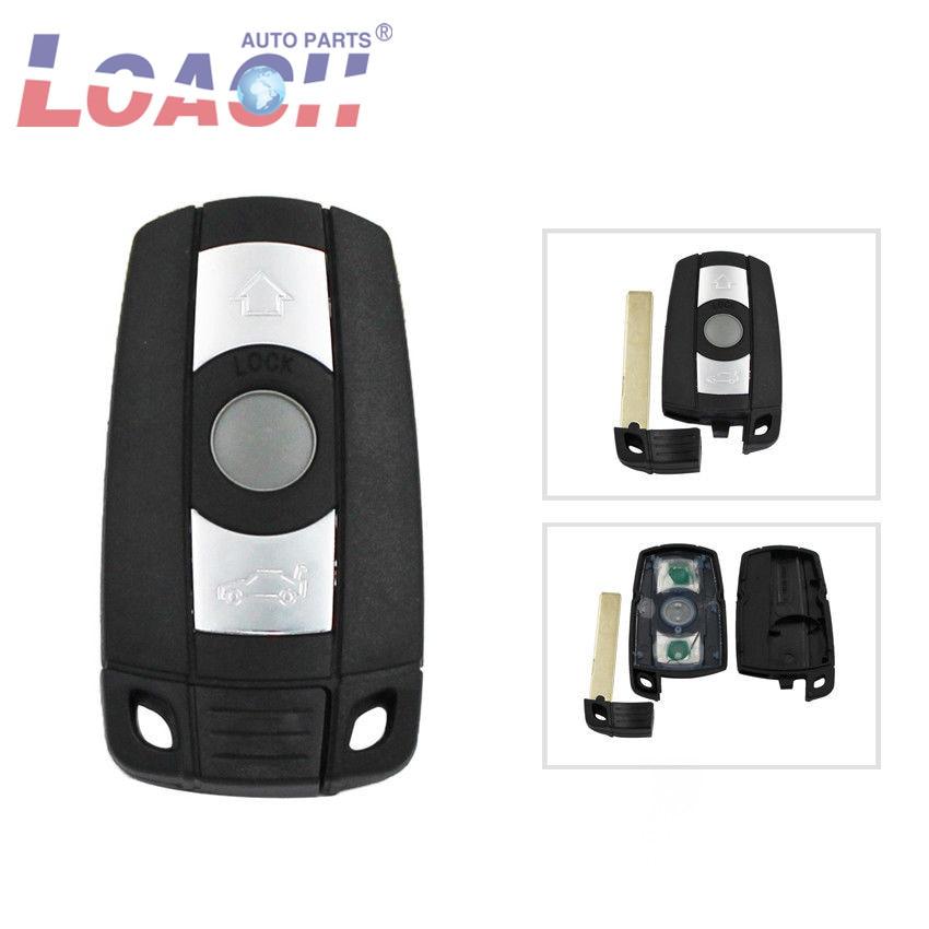 Remote Smart Car Key Case Cover shell Blade Fob For BMW 1 3 5 6 Series Smart E90 E91 E92 E60 3 Button With logo