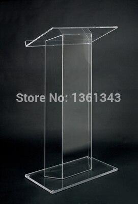 Прозрачный акриловый Подиум прозрачный акриловый мебель Лидер продаж однотонные пользовательские привело оргстекло Подиум трибуна. Акрил