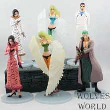Anime One Piece 6PCS/SET 13CM Zoro Tashigi  Robin PVC Action Figure Toy Brinquedos Model Collectibles