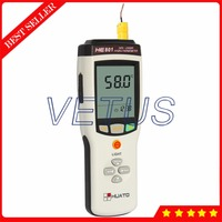 200~1800C HE801 Thermocouple Thermometer Single Channel Digital Temperature Meter For K J E T R S N B Type 3,6000 Data Logger