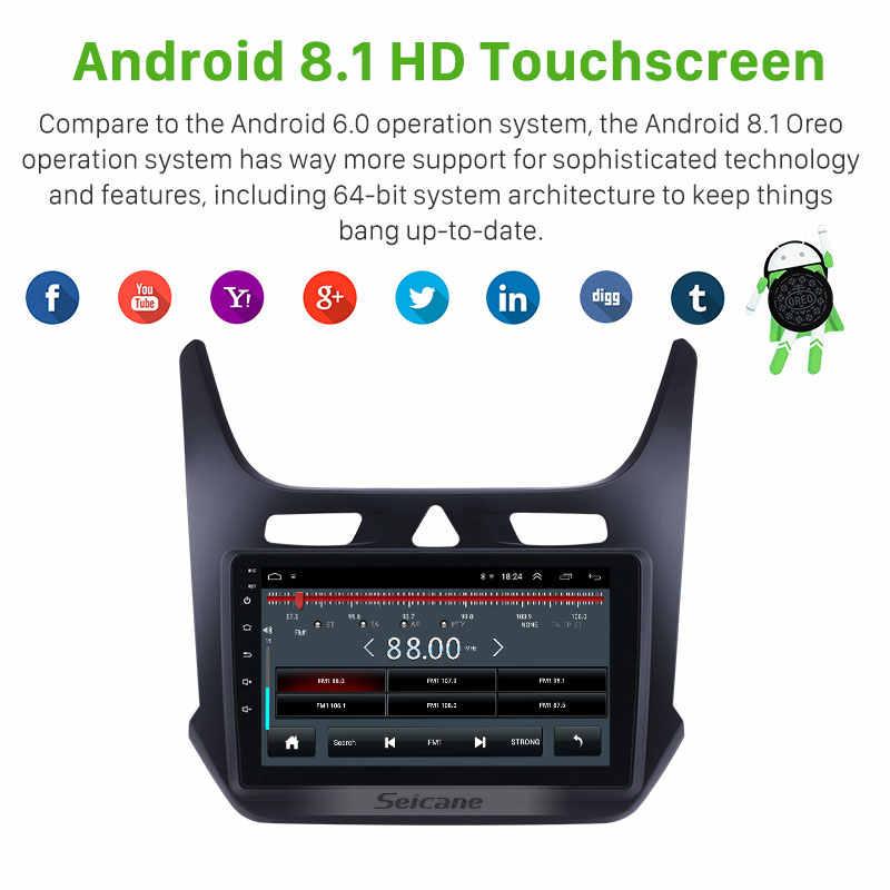 Seicane 8.1 9 Inci Mobil GPS Navi Radio Unit Pemain untuk 2016 2017 2018 Chevy Chevrolet Cobalt Mendukung Carplay digital TV