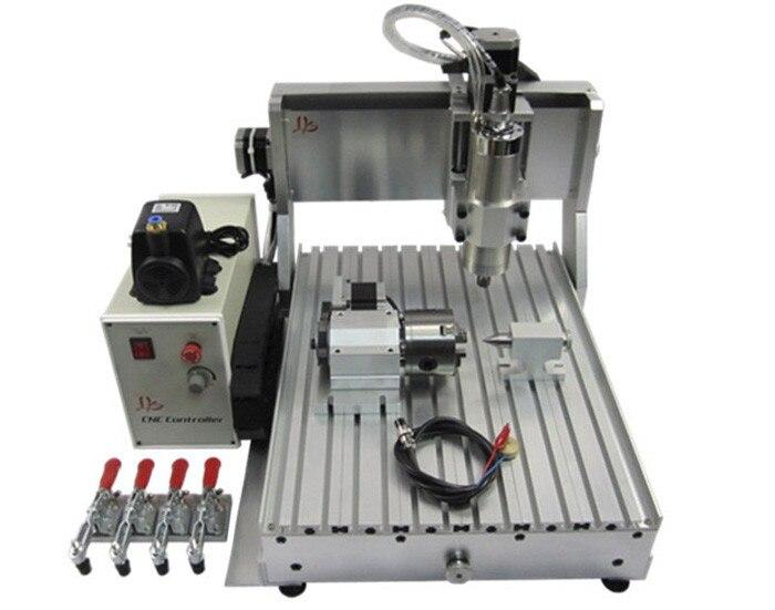 CNC 3040 Z-VFD 800W 4-Axis 3D milling router wood CNC engraving machine globo подвесная люстра globo cuimbra i 63111 6