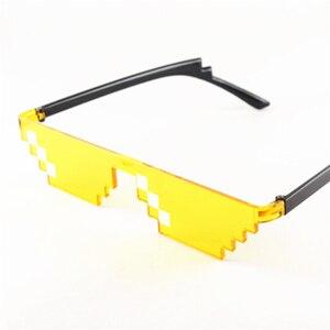 Image 3 - Retro Glasses 8 Bit Thug Life Sunglasses Pixelated Men Women Brand Party Eyeglasses Mosaic UV400 Vintage Eyewear Gift Toy Glasse