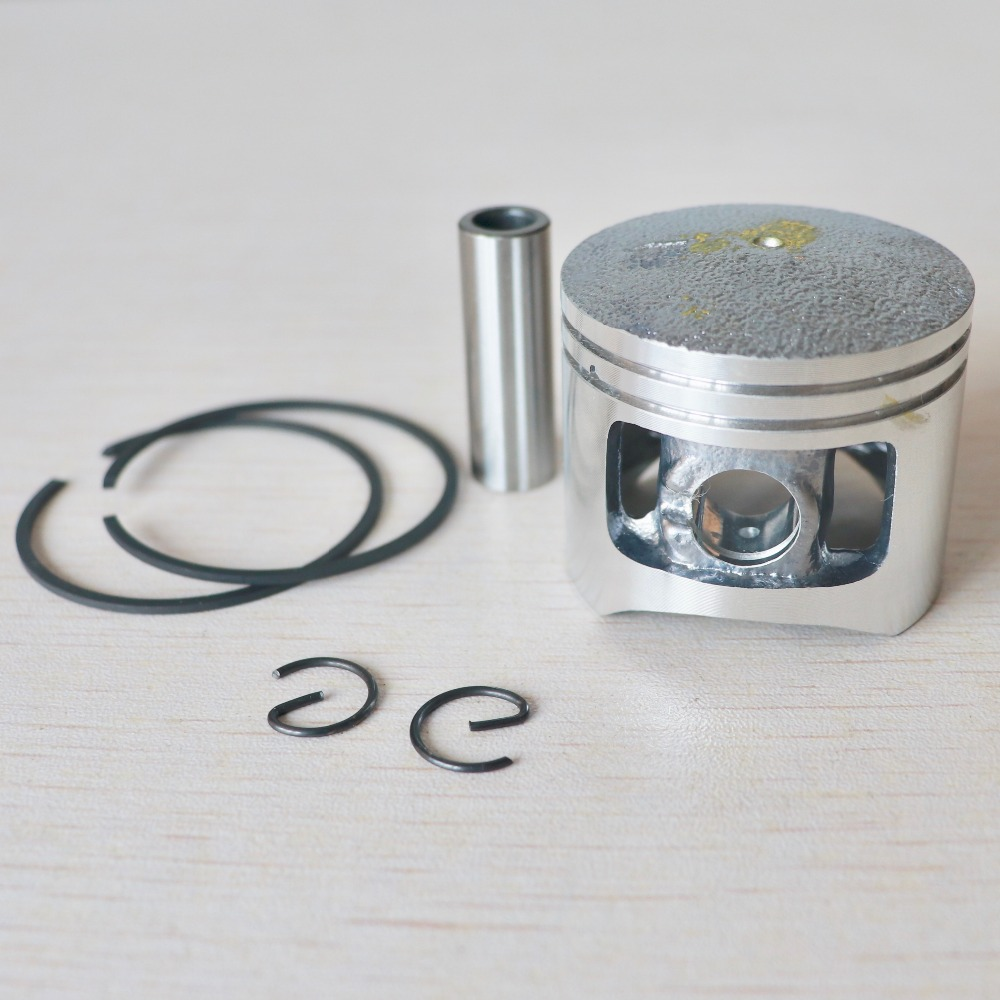 Chainsaw Piston Kit 43mm For Chinese 4500 45cc G4500 Gas Cylinder Engine Motor W/ Pin Rings Circlips Spare Parts