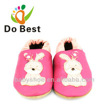 Dobest Brand Rabbit Genuine Leather Soft Baby Kids Buty dziecięce Mokasyny dziecięce First Walkers New 2014 Autumn Spring