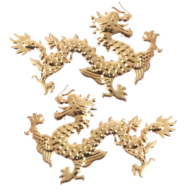 Gold Butterfly Dragon Leaves Epoxy Resin Mold Thin Copper Fillings DIY Jewelry