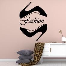 Fun Fashion shoe Waterproof Wall Stickers Home Decor Kids Room Nature Art Mural Decorative Vinyl