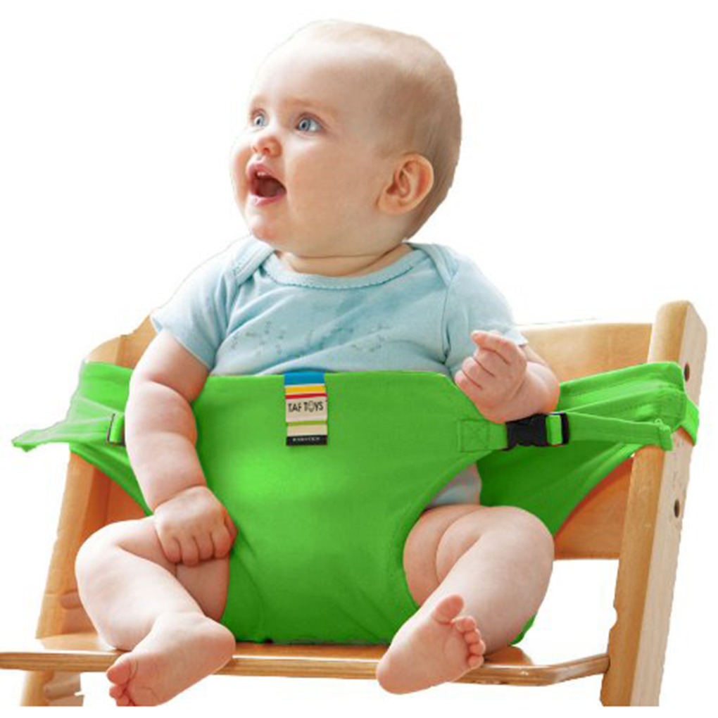 Portable Safety Baby Chair Harness Travel Foldable Washable Infant High Dinning Cover Seat