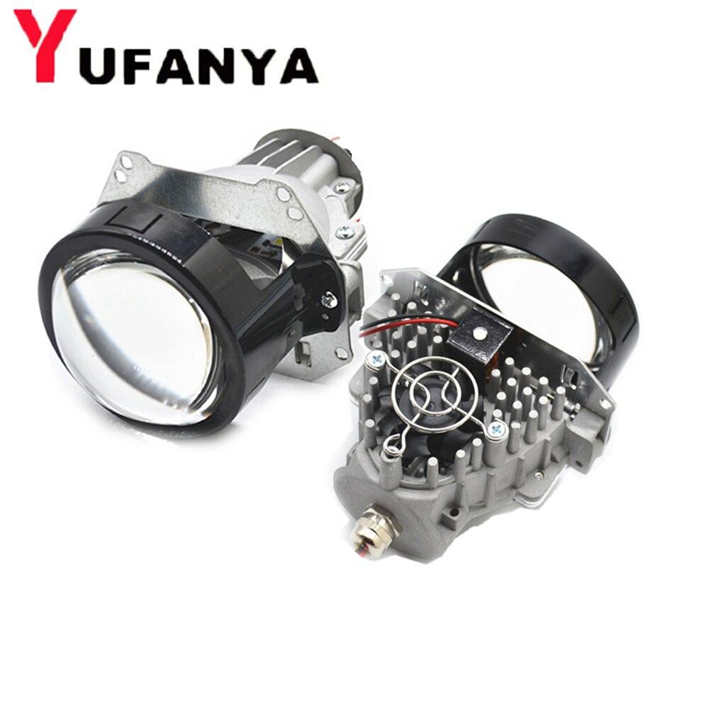 35 w BI lente del proiettore LED auto retrofit modificare universial LED Del Faro di Alto Basso Fascio hid xenon lens fit h1 h4 h7 d1 hb3 hb4