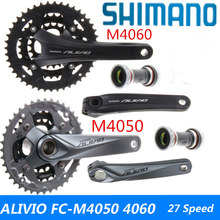 SHIMANO ALIVIO FC-M4060 FC-T4060 FC-M4050 FC-M4000 Crankset 3 * 9s 27S mtb Bicycle Bicycle Chain Wheel Tee(China)