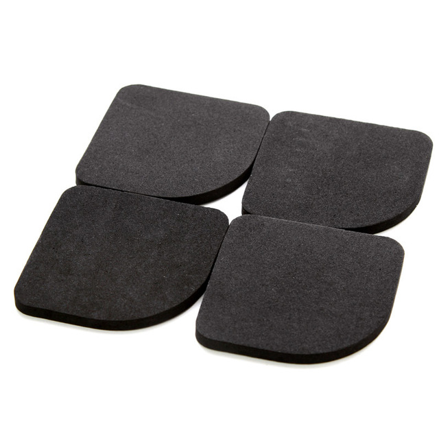 4PCS/Set Black Rubber Leg Anti-Vibration Non-Slip Mat Refrigerator Chair Desk Feet Mats Washing Machine Shock Absorbing Pads 1