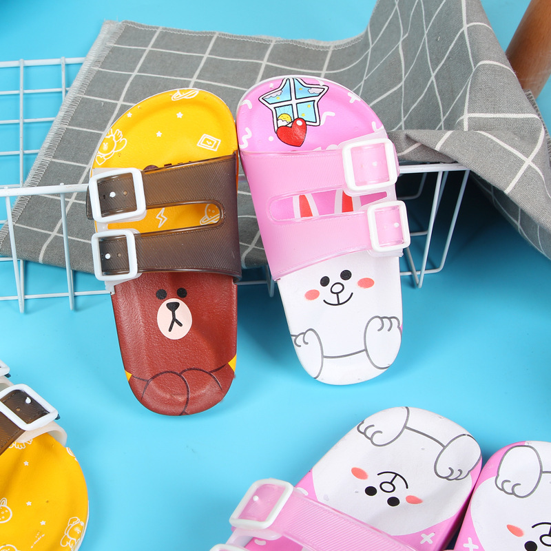 2019 New Kids Slippers For Girls Beach Sandals Summer Baby Slippers Boy Flat House Flip Flop Children Non-slip Casual Soft Shoes
