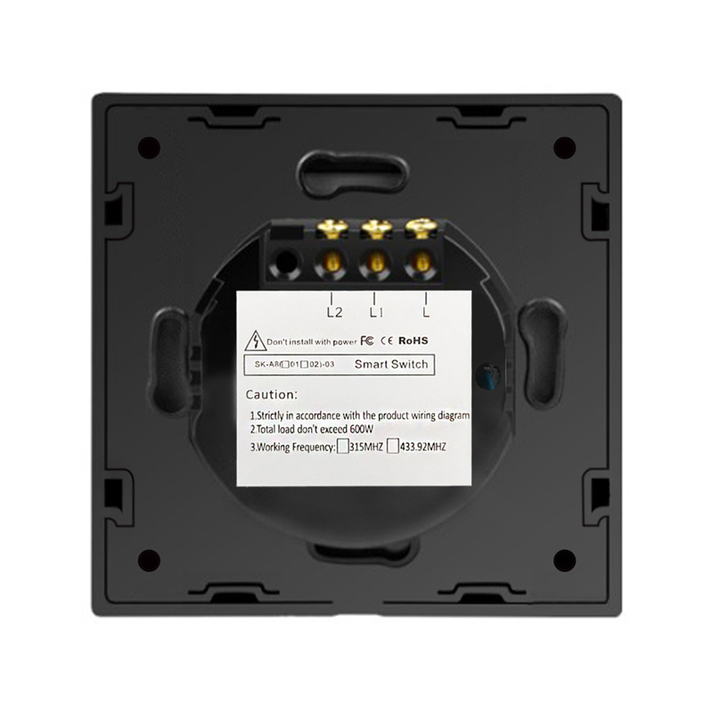 Cnskou EU Standard Light Lamps Wall Switches Luxury Black Touch Toughened Glass Panel with LED Indicator 1Gang1Way AC220V 110V in Switches from Lights Lighting