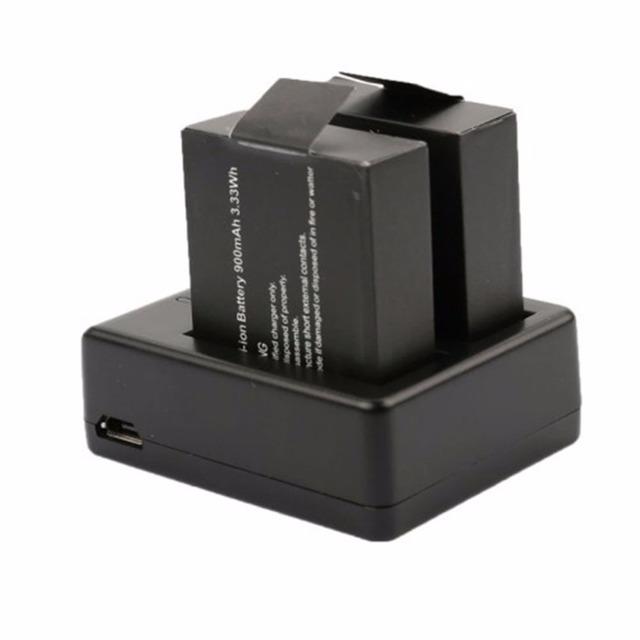 2pcs original sj4000 battery sj5000 sj6000 Wifi battery + dual battery charger for SJCAM sj 4000 5000 camera accessories