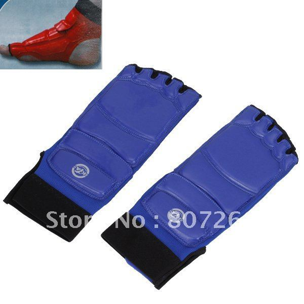 Taekwondo Instep Guard Foot Protector - Blue