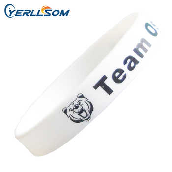 YERLLSOM 400pcs/Lot free shipping High Quality Custom personalized Screen Printing Logo Silicone Bracelets Y072901 - SALE ITEM All Category
