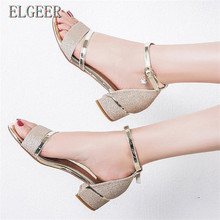Fashion open toe leg straps women's sandals 2018 summer new thick with high-heeled Sexy elegant Heel fashion women sandals shoes стоимость