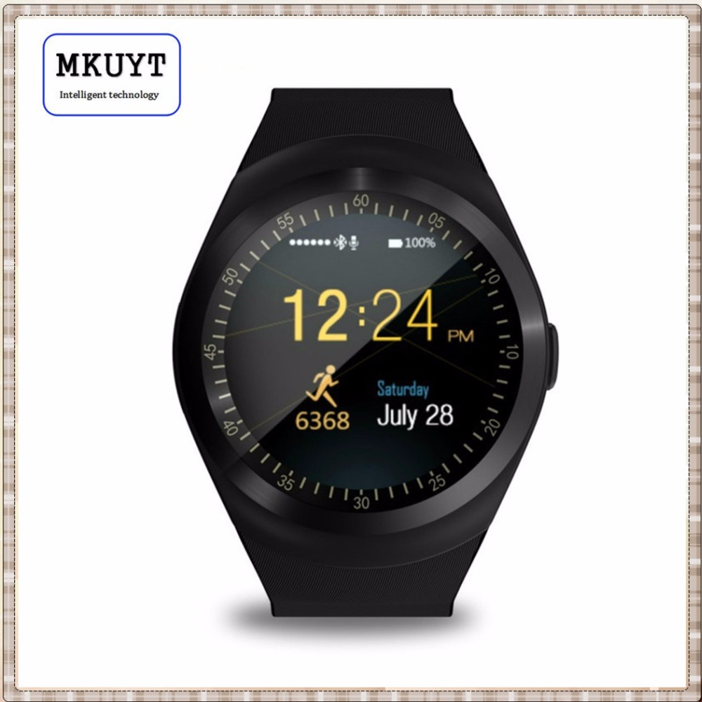 MKUYT Y1 Smart Watch 1.54″Touch Screen Fitness Activity Tracker Sleep Monitor Pedometer Calories Track Support SIM Card Solt