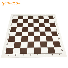 New High Quality Chessboard Set 43cm* 43cm Brown PVC Material Chess Game Accessories Portable Soft Standard Board Games qenueson
