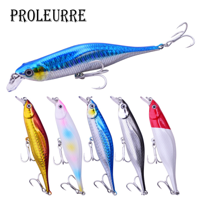 2018 Proleurre New Fishing Lures Minnow Crank 11cm 11g Artificial Japan Hard Bait Wobbler Swimbait Hot Model Crank Bait 5 Colors