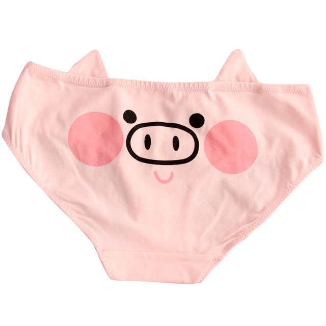 Animation Cute Pink Pig Cotton Underwear 4