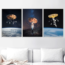 Surrealism Rotary Aircraft Nordic Posters And Prints Creativity Wall Art Canvas Painting Pictures For Living Room Decor