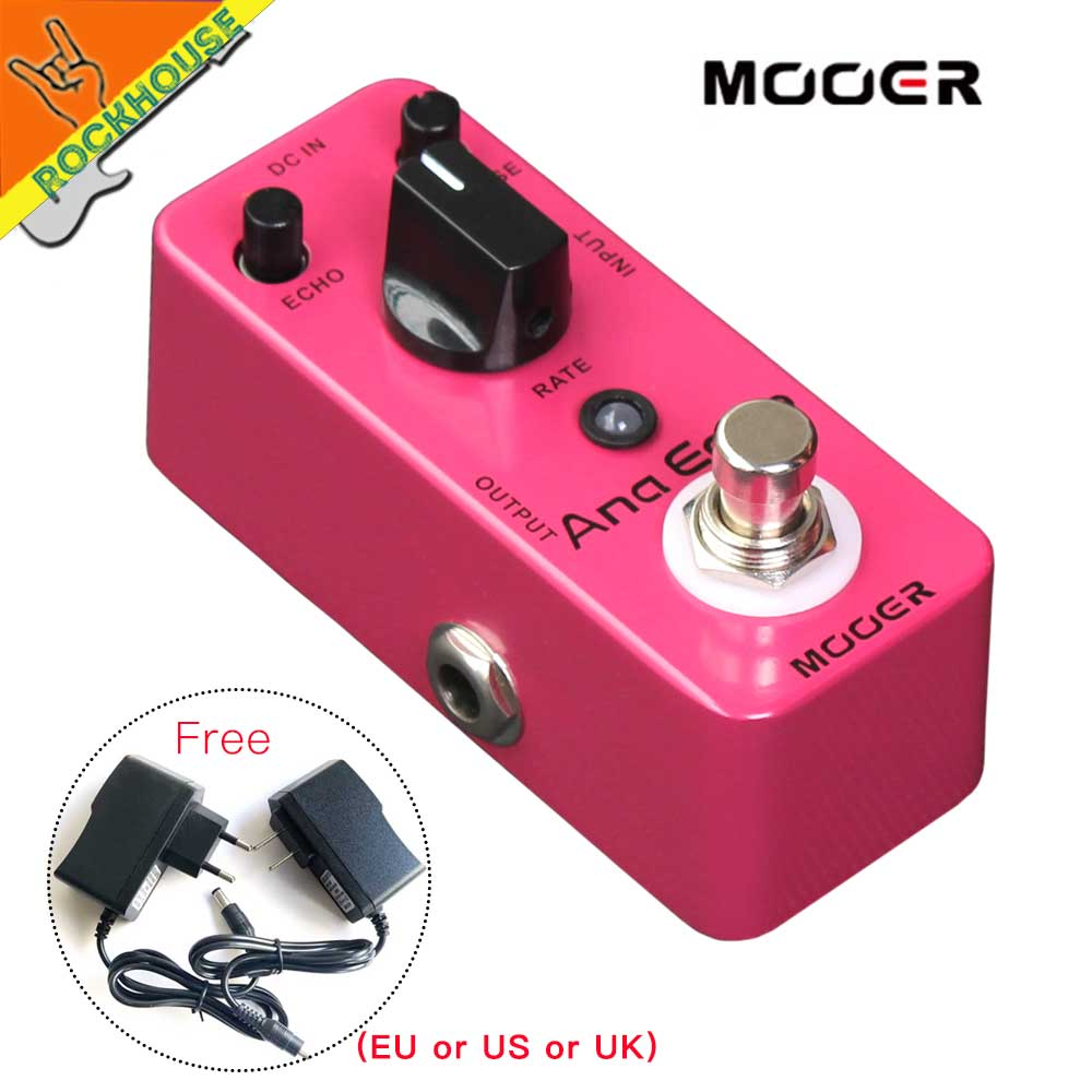 MOOER Ana Echo Analog Delay Guitar Effects Pedal Warm Clear and Smooth Tone 300ms Delay time True Bypass Free Shipping free shipping new guitar effect pedal mooer ana echo analog delay pedal pedal true bypass