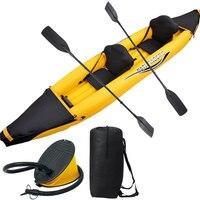 Pathfinder II Inflatable 2 Preson Boat Sport Boat 376 77 34CM 221cm Alumnium Oars Foot Pump