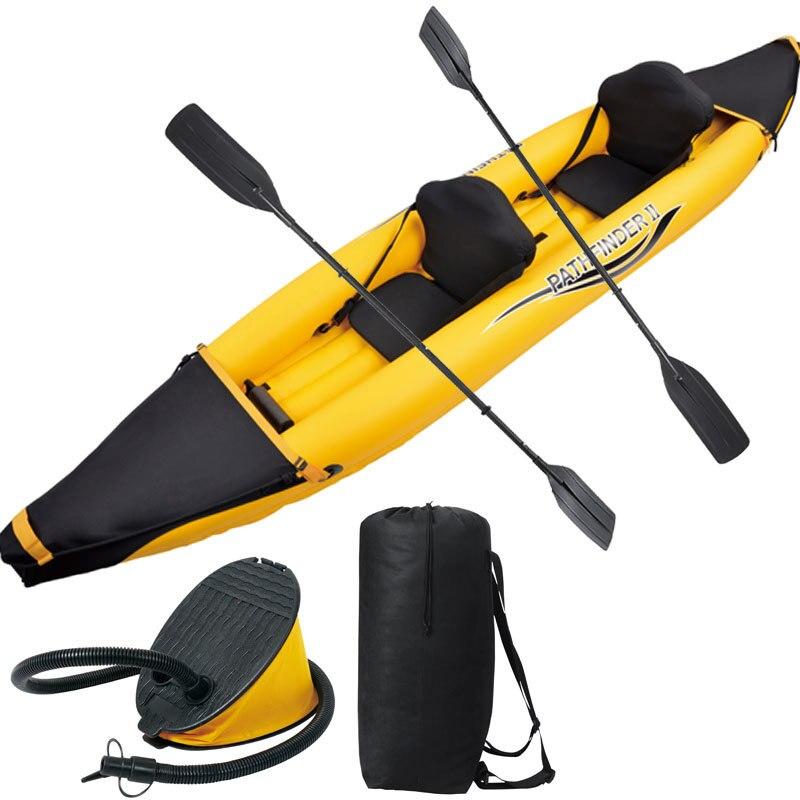 Следопыт 2 раздувная шлюпка спорта глазам 376*77*34 см 2 пары 221cm алюминиевые весла, воздушный насос, комплект для ремонта.каяк каноэ лодка A08001