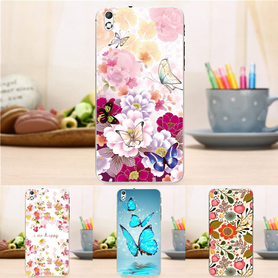 0.3mm Soft Hot Skin Gel Shell Cover for HTC Desire 816 Flower Tower Fashion Case For HTC Desire 816 800 D816W