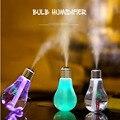 Led bulbo colorido usb mini humidificador purificador de aire humidificador ultrasónico atomizador de mesa de luces de la noche para car home free ship