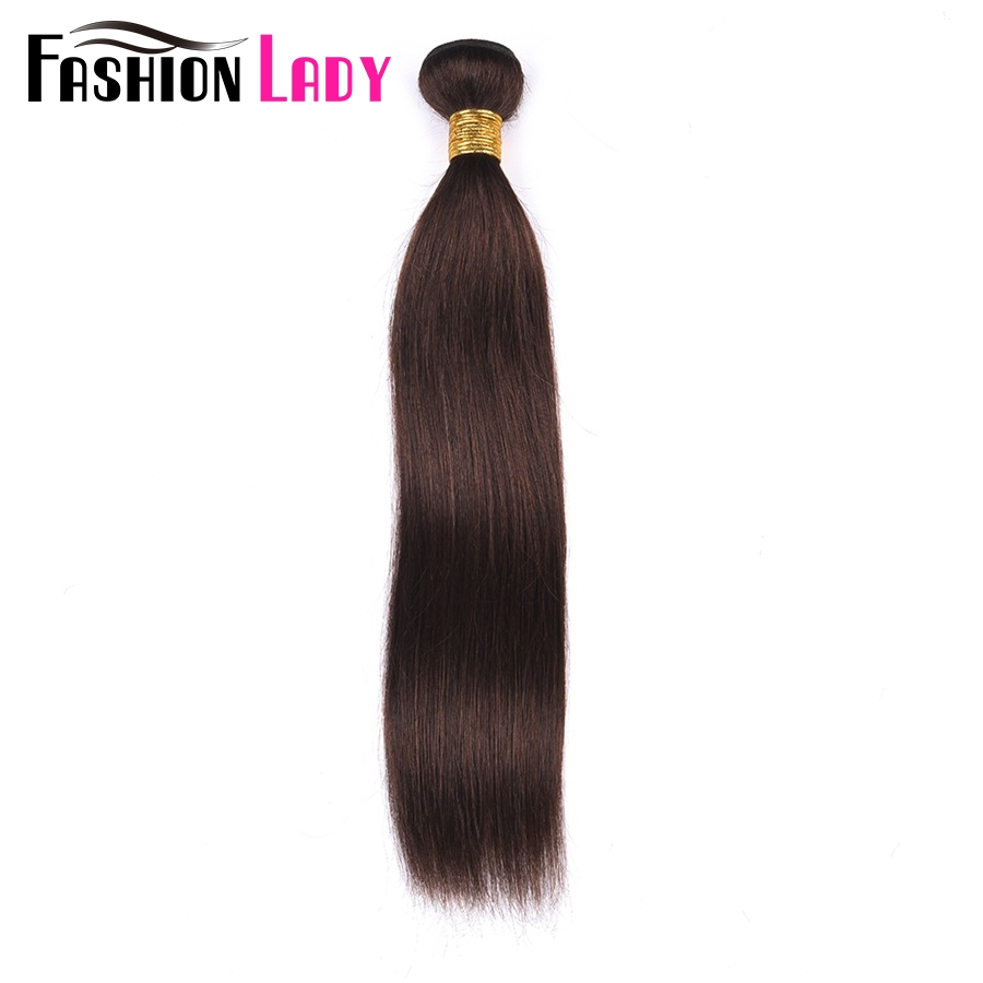 FASHION LADY Pre-Colored 100% Human Hair Weave #2 Dark Brown One Piece Indian Straight Hair Human Hair Weft Non-Remy