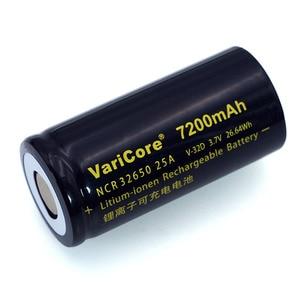 Image 3 - 6 stks/partij VariCore 3.7 V 32650 7200 mAh Li Ion Oplaadbare Batterij 20A 25A Continue Afvoer Maximale 32A High power batterij