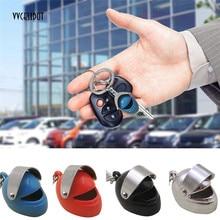 Motorcycle Helmet Shape Metal Key Chain Innovative Gift Safety Helmet Keyring