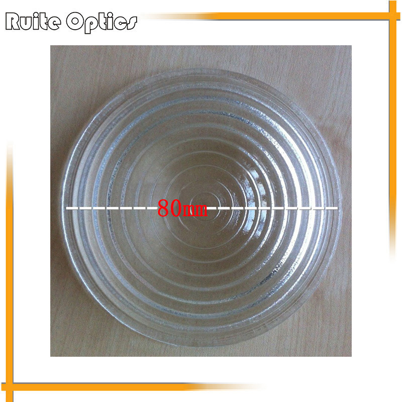 1pc 300W 80mm Diameter Round Glass Spotlight Fresnel Lens with IP23 Protection Grade doumoo 330 330 mm long focal length 2000 mm fresnel lens for solar energy collection plastic optical fresnel lens pmma material