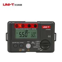 UNI T UT501B Digital Insulation Resistance Testers Ground Meter Megohmmeter Voltmeter w/LCD Backlight Earth Tester Megger