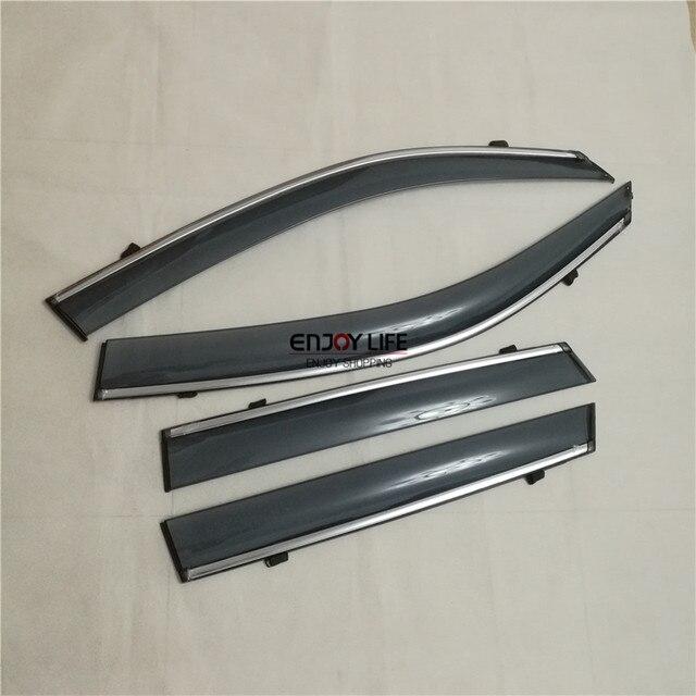 4 unids/set Humo Visera Lluvia Vent Ventana Deflector Guard Shield Shade Para Suzuki Vitara Escudo 2015 2016