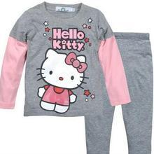 Пижамные комплекты с героями мультфильмов для детей от 2 до 7 лет хлопковый комплект одежды с длинными рукавами, весенне-зимний детский пижамный комплект, одежда для сна для маленьких девочек и мальчиков, WKJH70