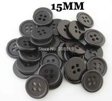 NB0162 Kids button 15mm&3/5 Round black buttons 4 holes 200pcs/lot Sewing accessories