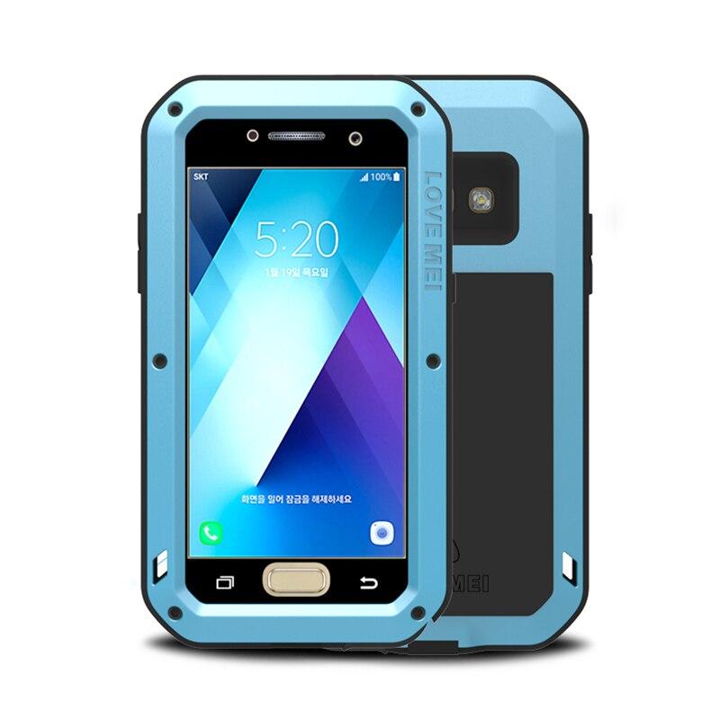 imágenes para Para Samsung Galaxy A3 2017 Caso A320 Dirt Prueba de Golpes de Metal armadura de Cubierta Cajas Del Teléfono para la Galaxia A5 A520 360 Gorilla Glass escudo