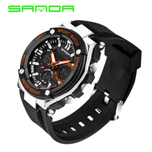 2017 Brand SANDA Sports Watches Men Fashion LED Military Army Watch Waterproof Shock Resistant Diving Wristwatch Reloj Hombre