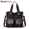 RoyaDong Brand 2017 Women Shoulder Bags High Quality Canvas Vintage Big Tote Handbags Casual Crossbody Bags For Women Men Bag